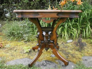 Antique Walnut Display Table
