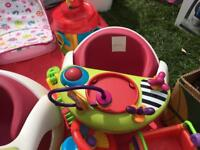 Mamas and papas snug chair with detachable play tray x2