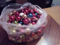 Big bag of Christmas balls