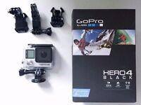 GoPro Hero 4 Black – As new with original box (Hero4 camera)
