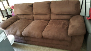Microsuede couch price reduced