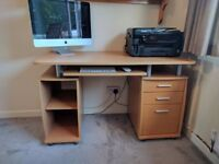Office Desk with sliding drawer, shelves and drawers - Excellent condition