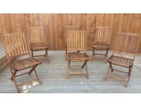 Wooden Extendable Table & 6 Chairs (Seats 8)