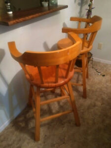 Pine Bar Stools; Just reduced!