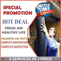 COMPLETE HOUSE AIR DUCT CLEANING WITH ALL HOTnCOLD VENTS $129.99