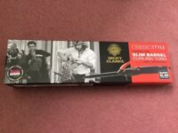 Brand new Nicky Clarke classic style slim barrel curling tongs