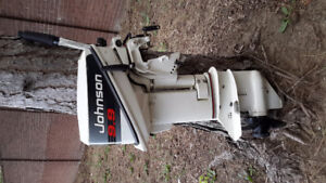 1992 Johnson 9.9hp 2 stroke short shaft outboard with elec start