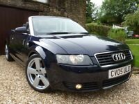 AUDI A4 2.5 TDI S LINE CONVERTIBLE ** FSH ( 15 STAMPS ) - STUNNING EXAMPLE **