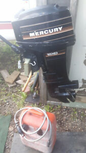 18xd Merc outboard and tank