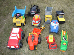 Assorted Large Trucks and Vehicles