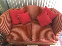 Brand New Beautiful Two Seater Stripey Sofa | Delivery Avail