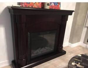 ***DARK BROWN WOOD CHIMNEY IN PERFECT CONDITION***