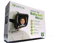Venture Acti-Vue Baby Car Mirror Wide Convex Mirror 100% Shatterproof Tested Certified for Safety