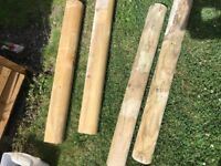 3 feet long round post and 3 feet long mini sleepers £2.50 each (marks tey)