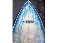 Surfboard 6 foot 6, Fluid juice fish