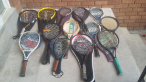 //Many Tennis, Squash and Racquet Ball Racquets//