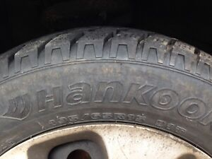 Two Hankook M&S tires. 195/65R15.