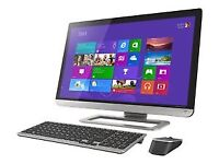 "Toshiba Qosmio PX30t-A-119 23"" AIO Intel Core i3-3120M 8GB 1TB Windows 8 64-bit damaded"