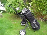 MIZUNO ASTRON GOLF CLUBS IN BAG WITH TROLLEY MENS RIGHT HAND