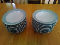 Denby Mist wide rimmed soup/cereal bowls