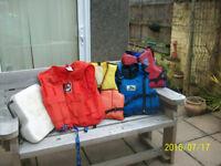 life jackets/ buoyancy aids