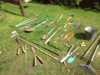 Garden tools and other vintage