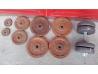 Cast Iron Metal discs plates from Hercules they need painting in total 42 kg