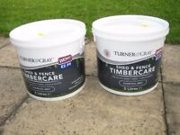 NEW 10 ltrs 'TURNER & GRAY' CHARCOAL SHED / FENCE PAINT,
