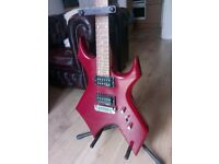 BC RICH WARLOCK AND RED GENERIC GUITARS