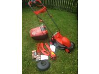 Brand New Lawnmower and Trimmer - Flymo Visimo Rotary RRP £110+