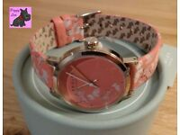 Radley RY2368 Ladies 'Fleet Street' Papaya Leather Strap Watch - NEW RRP: £70