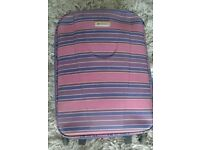 Blue And Purple Striped Suitcase, 21''