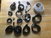 Assortment of tv / av cables