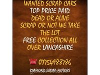 WANTED SCRAP CARS TOP PRICE PAID COLLECTED WITHIN 30 min