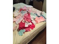 Bundle baby girls clothes first size