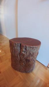 Très belle bûche en bois pétrifié décorative
