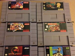 Assorted SNES Games all $20 each or all for $100