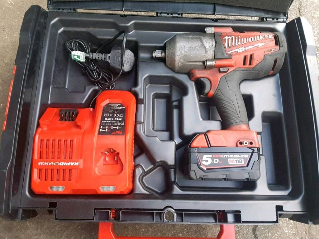 MILWAUKEE M18 FUEL CORDLESS 1/2'' IMPACT WRENCH BOXED USED