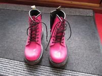 Dr Martin Delaney Boots in pink size 1 very good condition as only worn a few times