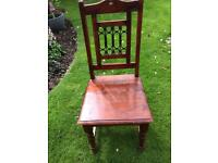 Four dining chairs, free to uplift