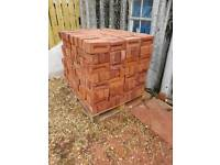 Manufactured imperial red bricks (225mm x 110mm x 70mm)