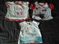 3 baby girl t-shirts - 3-6 months