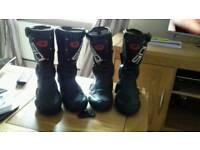 2x pair of Sidi motorbike boots