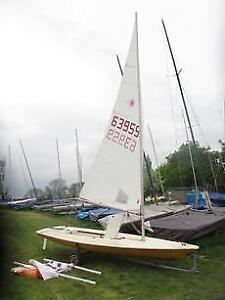 1978 Yellow Laser Sailboat