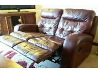Italian high quality leather sofa set