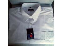 Men's White Shirt, Long Sleeves. 17½ Collar.