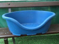 Clean plastic dogs basket