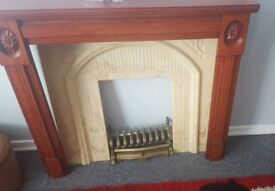 Fire surround and back plate