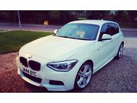 Immaculate 2013 plate BMW 1 Series 118d M-Sport 5 Door Sports Hatch in Alpine White