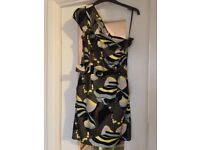 Ladies French Connection one shoulder dress size 10